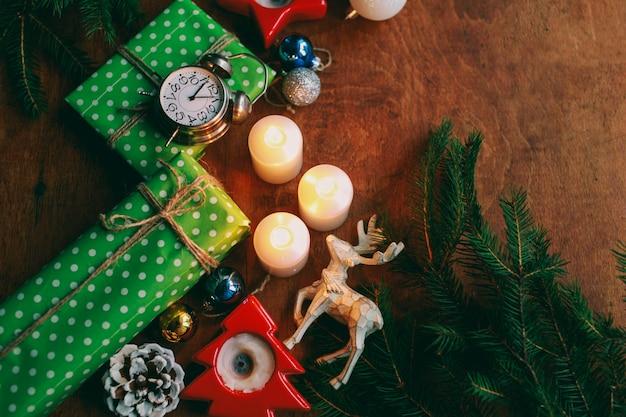 Jouets de noël et ambiance de nouvel an