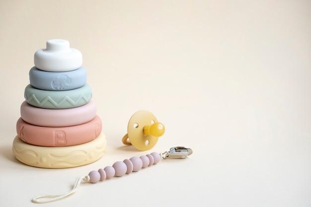 Jouets pour bébé nouveau-né avec espace de texte