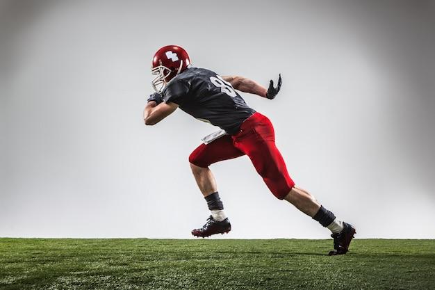 Le joueur de football américain en action