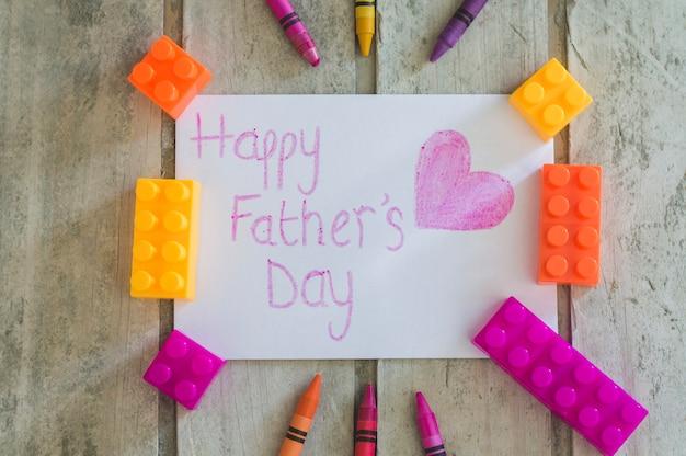 Le jour du père écrit au coeur