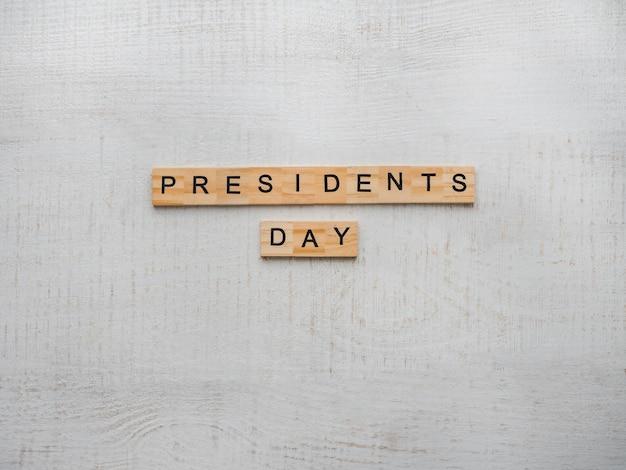 Jour du président. belle carte de voeux. vue de dessus