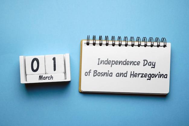 Jour de l'indépendance de la bosnie-herzégovine en mars sur le calendrier