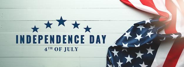 Jour de l'indépendance des usa 4 juillet concept, drapeau des états-unis d'amérique