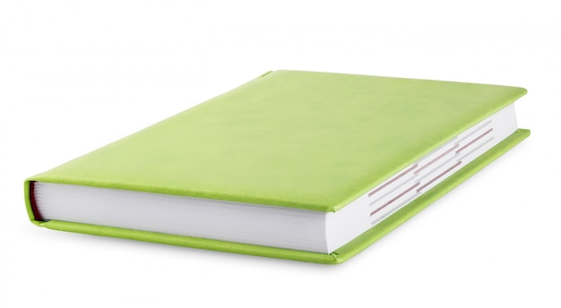 Journal avec couverture verte