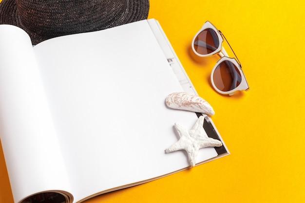 Journal d'écriture concept de vacances de plage d'été