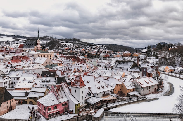 Journée d'hiver de cesky krumlov