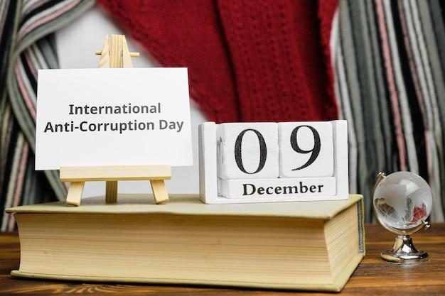 Journée internationale de lutte contre la corruption du mois d'hiver calendrier décembre.