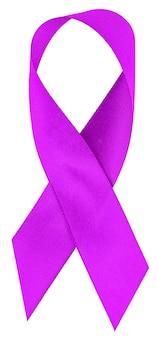 Journée mondiale contre le cancer, des rubans violets lavande pour sensibiliser à toutes sortes de tumeurs soutenant les personnes atteintes de maladie.