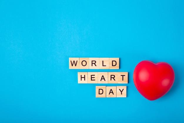 Journée mondiale du cœur et coeur rouge