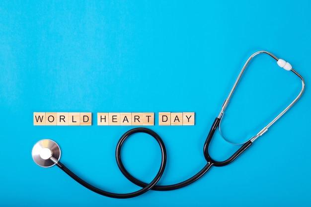 Journée mondiale du cœur et stéthoscope