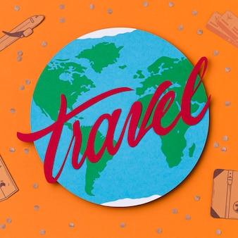 Journée mondiale du tourisme avec lettrage