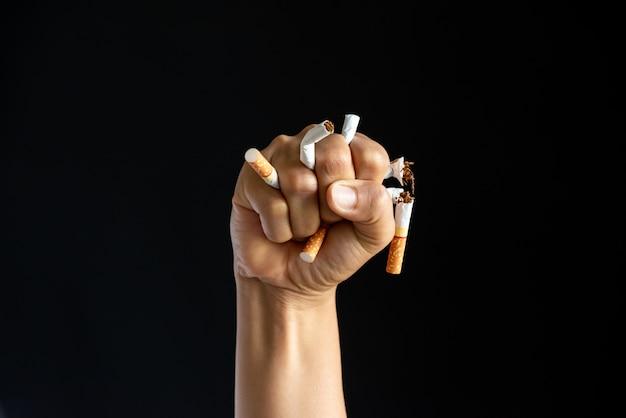 Journée mondiale sans tabac, le 31 mai. stop smoking.