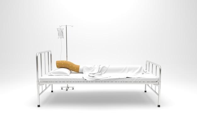 Journée mondiale sans tabac, cigarette sur le lit.