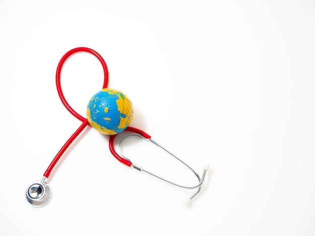 Journée mondiale de la santé, stéthoscope rouge