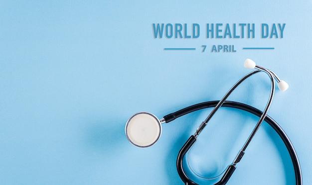 Journée mondiale de la santé avec stéthoscope