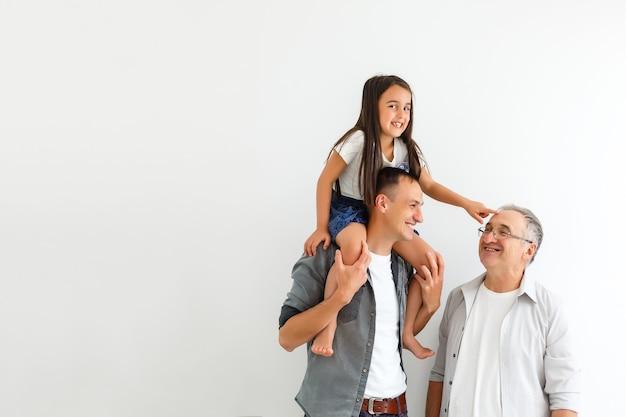 Joyeuse Fête Des Pères. Mode De Vie Familial à La Maison. Photo Premium