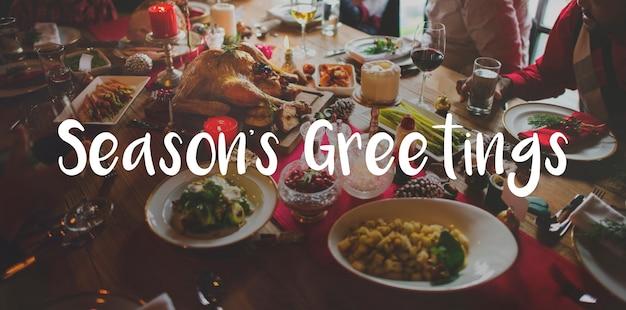 Joyeux bright season salutation célébration