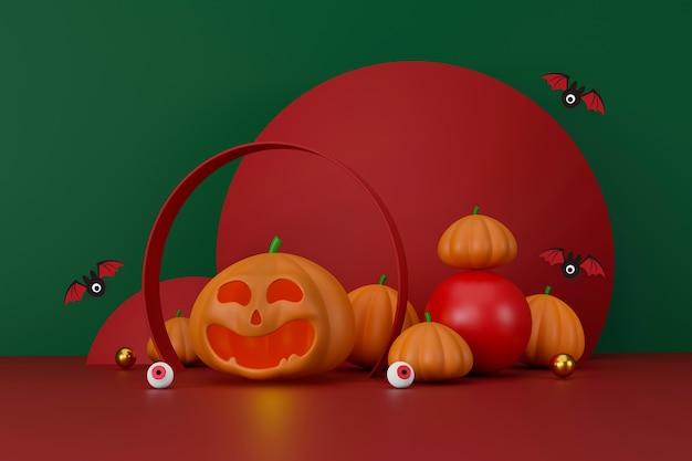 Joyeux espace de fond d'halloween pour l'illustration 3d du texte