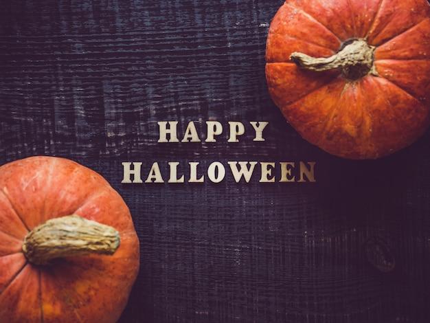 Joyeux halloween et citrouille mûre