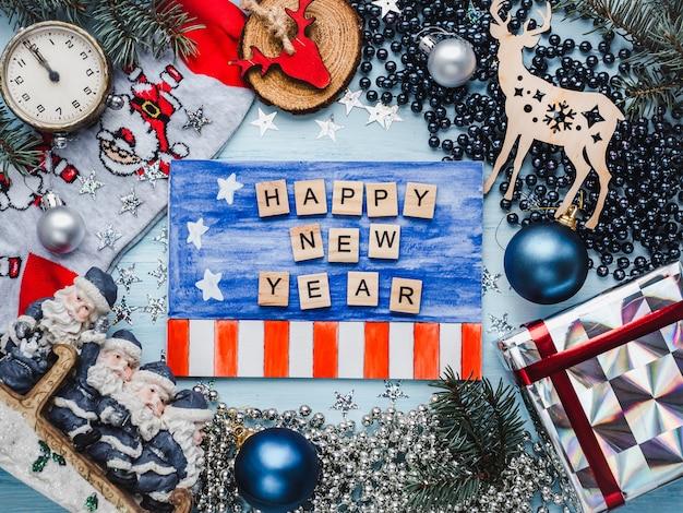 Joyeux noel et bonne année. belle carte