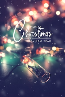 Joyeux noël et bonne année, carte de voeux élégante
