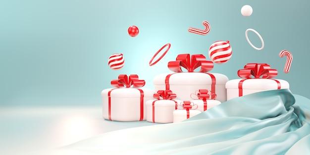 Joyeux noel et bonne année. fond de noël, coffrets cadeaux, bannière, carte de voeux