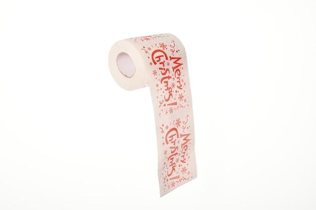 Joyeux noël texte sur papier toilette