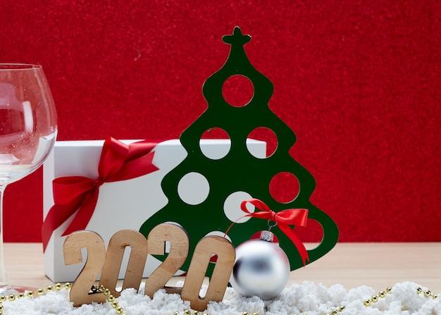 Joyeux nouvel an 2020 fond de décoration