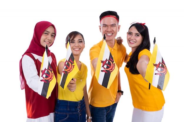 Joyeux soutien de la nation brunei