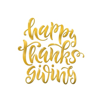 Joyeux thanksgiving lettrage