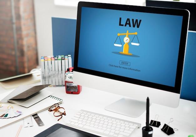 Jugement en droit des droits de peser le concept juridique