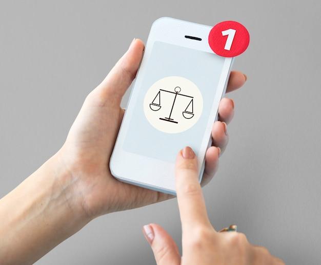 Jugement droit justice egalité concept