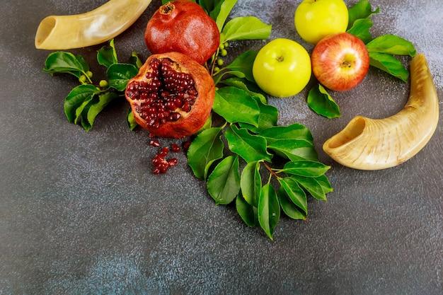 Juif rosh hashanah ou concept de nouvel an. cuisine traditionnelle.