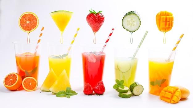 Jus de fruits frais d'été