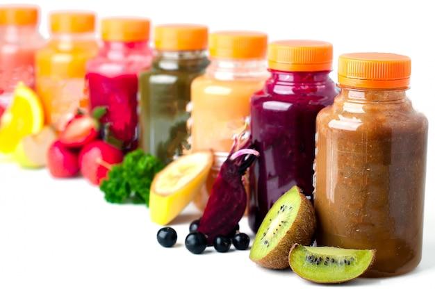 Jus de fruits frais et sains