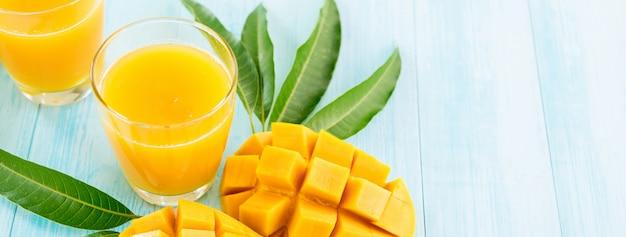 Jus de mangue rafraîchissant pour l'été
