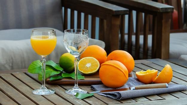 Jus d'orange frais en plein air