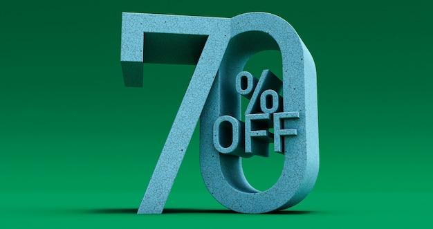 Jusqu'à 70% de réduction sur l'offre spéciale, vente jusqu'à soixante-dix 70% de réduction, rendu 3d