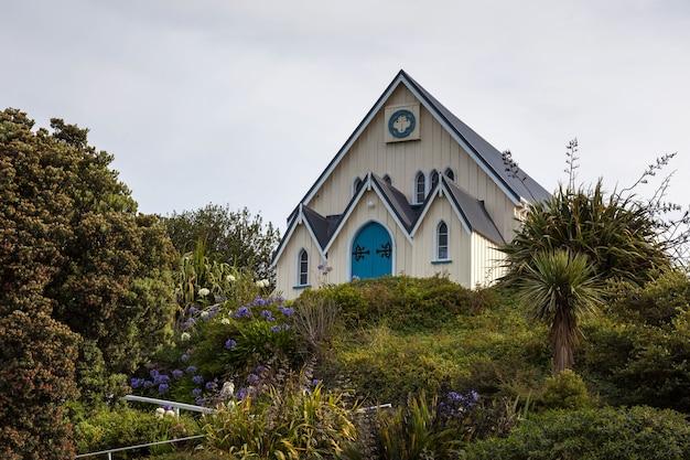 Kaikoura, nouvelle-zélande - 12 février : gospel chapel à kaikoura en nouvelle-zélande le 12 février 2012