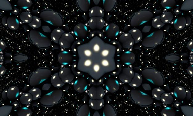 Kaléidoscope festif avec des ballons à l'hélium. célébrez un anniversaire, affiche, bannière joyeux anniversaire. éléments de design décoratif réalistes. ballon avec ruban, couleur noire.