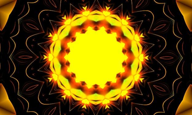 Kaléidoscope de fleur jaune brillant. fond d'été. fleurs. fond de printemps. contexte de la nature. fleurs jaunes.