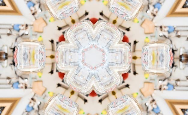 Kaléidoscope de lumière abstraite, fond de texture, éclairage de bokeh, art psychédélique