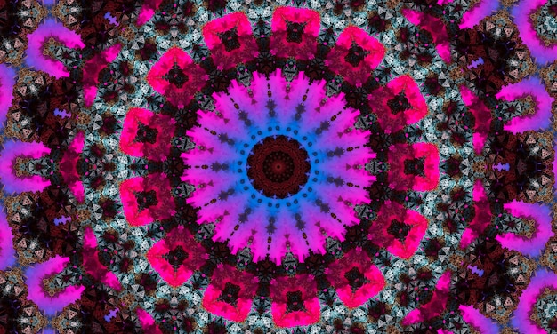 Kaléidoscope violet sous la forme d'un œil, dessin abstrait surréaliste, fort, intense, dynamique et puissant, pour bannières, affiches, flyers, papier peint, invitations, arrière-plans, publicité