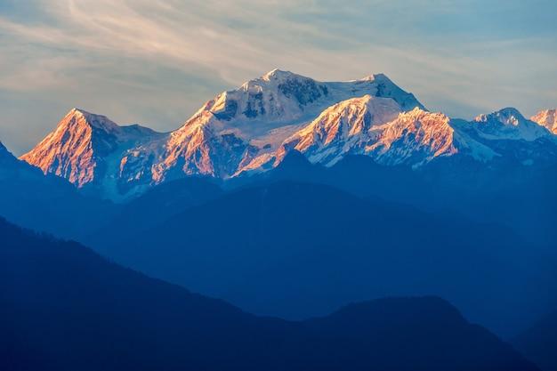 Kangchenjunga vue sur la montagne