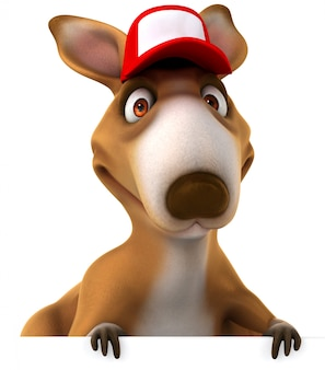 Kangourou drôle