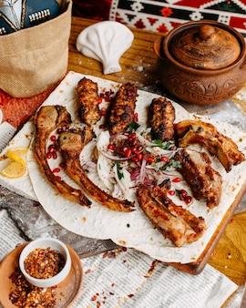 Kebab posé sur la table
