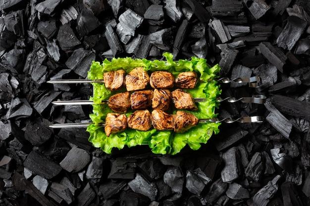Kebab de shish prêt