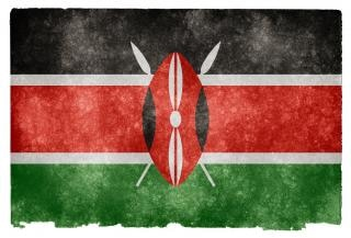 Kenya drapeau grunge texture