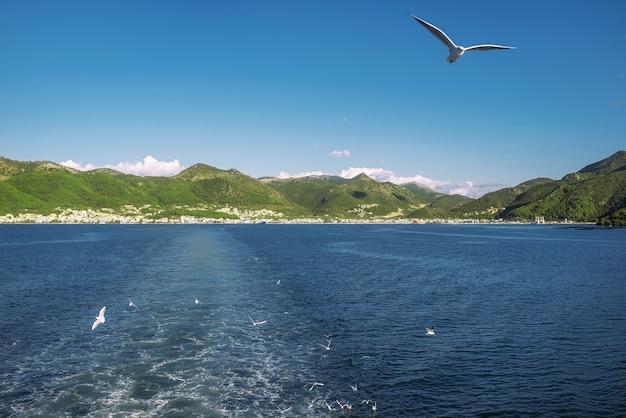 Kerkyra corfou ville sur l'île de corfou en mer ionienne