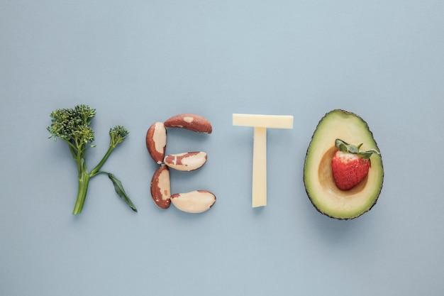 Keto mot fabriqué à partir d'un régime cétogène